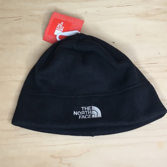 38e8f2144 The North Face Sweater Fleece Beanie Hat Black NWT
